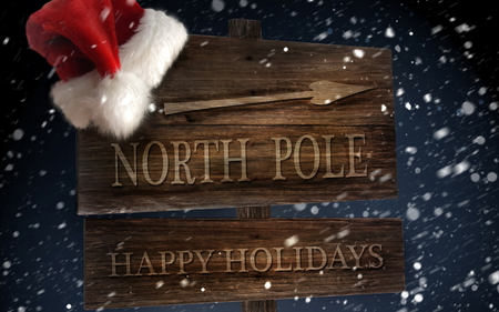 north pole - travel, gifts, fun, hat, presents, santa, christmas, cold, snow, winter, holiday