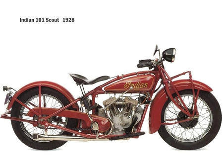 Indian bike - bike, wallpaper, classic, old, indian bike, red