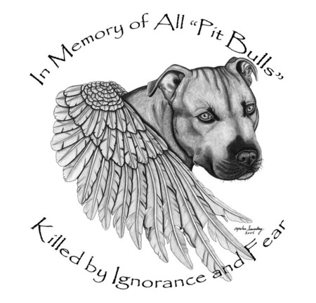 In loving Memory  - hate the deed not the breed, love, pit bull, heaven