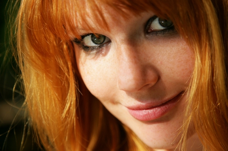 Redhead Green Eyes Other Amp People Background Wallpapers