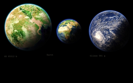 Planets out there - earth, space, exoplanet, habitable