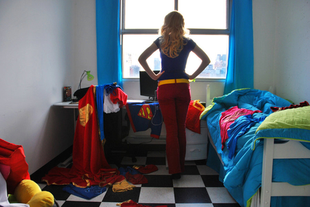 Supergirl's room - funny, people, woman, entertainment