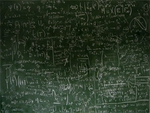 Mathematic chalkboard