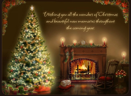 Christmas tree 3 - Other & Abstract Background Wallpapers on ...