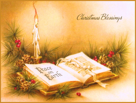 Christmas Blessings - 3D and CG & Abstract Background Wallpapers ...