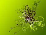 Abstract Green Flowers