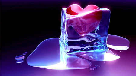 Frozen Heart - beautiful, melt, dead, lovely, ice, beauty, heart, abastarct, love, frozen