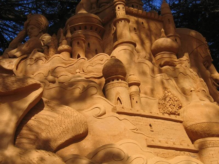 Sand Castle - shape, figure, castle, sand