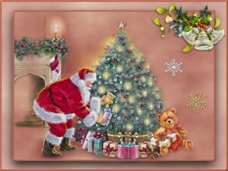 THE MAGIC OF CHRISTMAS! - gifts, santa, tree, magic, christmas