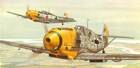 Image result for paintings messerschmitt 109