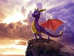 Spyro the Dragon on Cliff