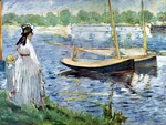 Edouard Manet - The Banks of the Seine at Argenteuil (1874)