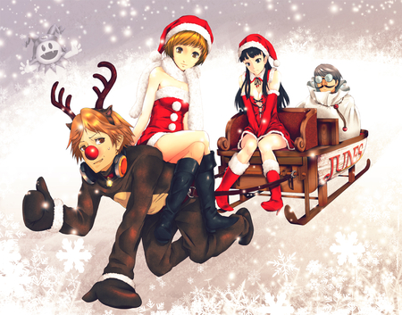 Persona Christmas - Other & Anime Background Wallpapers on Desktop ...