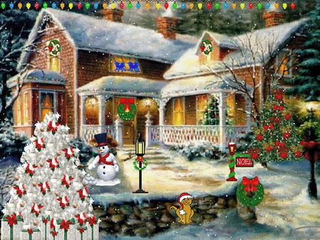 Christmas House - Houses & Architecture Background Wallpapers on ...