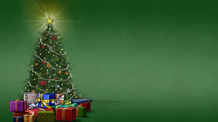 Christmas Tree 3D And CG Abstract Background Wallpapers On  - Magic Christmas Tree