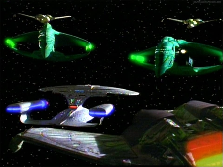 Turning the Tables - klingon, star trek the next generation, star trek, romulan
