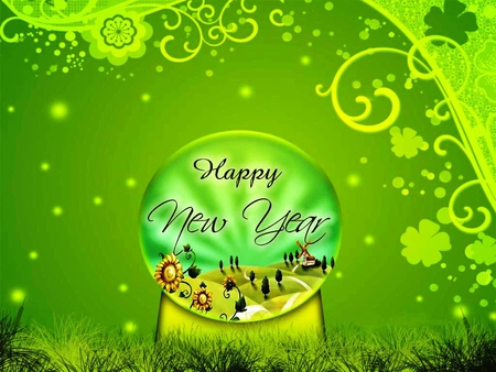 Happy New Year for all my friends on DN and for everyone - green, new year, all, happy, friends, everyone, fantasy, gift