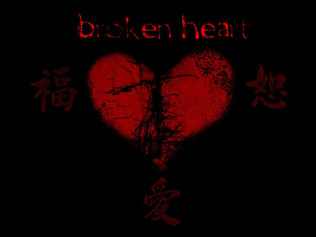 The broken heart in gothic style - bloody, broken, gothic, heart