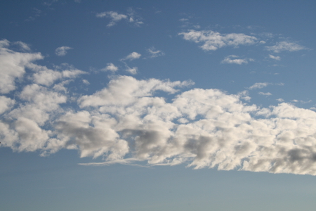 Clouds 01 - photography, clouds, sky, white, blue