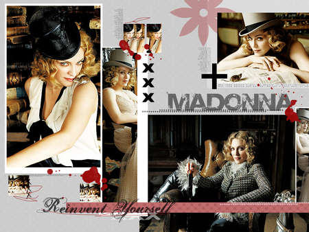 Madonna - music, blonde, collage, madonna