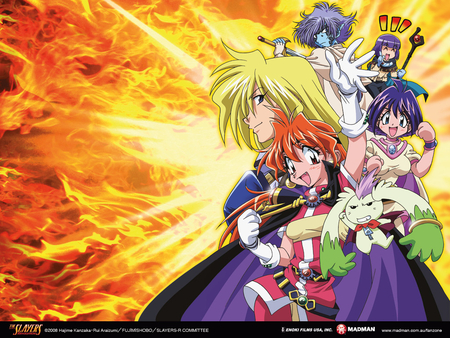 Slayers R - gourry gabriev, lina inverse, slayers, the slayers, xellos, amelia wil tesla seyruun, zelgadis greywords, pokota