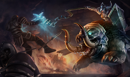 League Of Legends - Dark Rider Sejuani - sejuani, dark rider, game, league of legends, lol