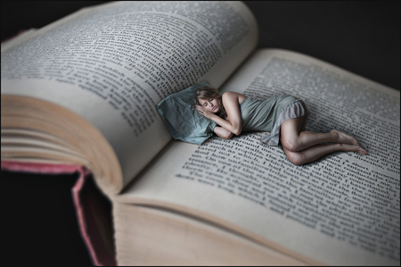 Sleeping Beauty - sleeping, fantasy, dream, girl, book