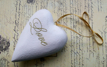 heart pendant - pendant, wp, lace, white, love