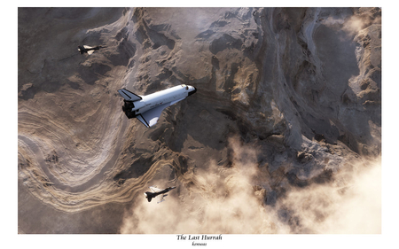 the last hurrah - mountains, shadows, fighters, shuttle