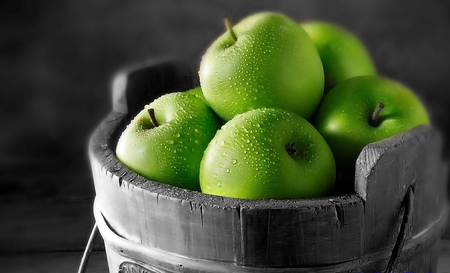 Green Apples - green, photography, fruits, nature, apple