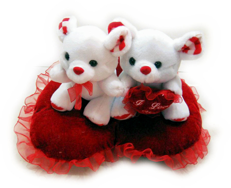 Sweet teddy bears in love. - red valentines day, love, bears, heart
