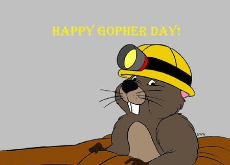 Happy Gopher Day - groundhog day, pooh, gopher, cartoons