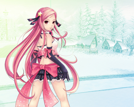 Lucia - long hair, ribbon, lucia, anime, bow