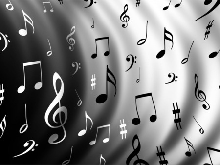 music music - all, the, 3d, music, pattern, musical, notes, wavy