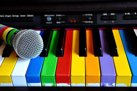 colorful piano photography amp abstract background