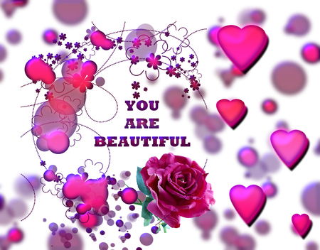 you are so beautiful 3d and cg amp abstract background