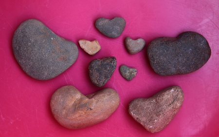Collection Of Heart Shaped Stones - heart, cool, them, check