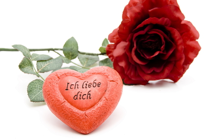 ich liebe dich - i love you, valentines, rose, ove