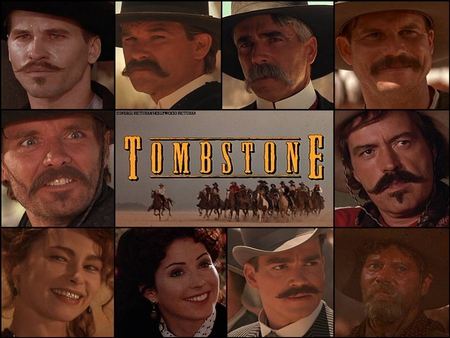 Tombstone - kurt russell, johnny ringo, doc holliday, val kilmer, morgan earp, ok corral, wyatt earp, gunfight, powers boothe, bill paxton, tombstone, dana delany