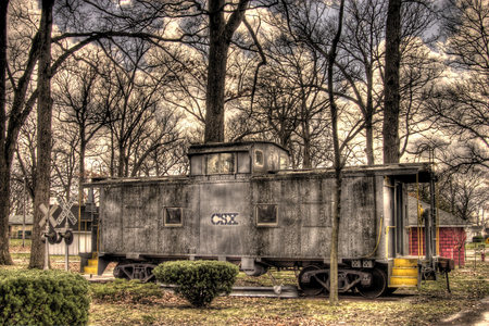 Bygone Era - caboose, transportation, rail, conductor, old, antiques, railroads, trains