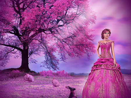 Pink princess fantasy abstract background wallpapers for Pink princess wallpaper