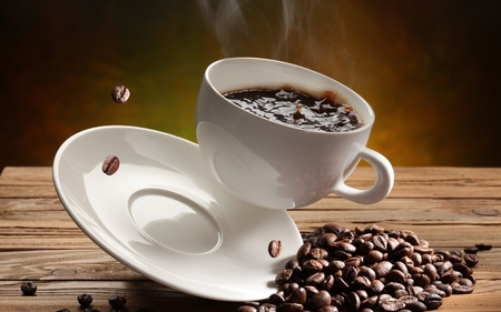 coffee cup - cup, coffee, coffee cup, dishes, coffee beans
