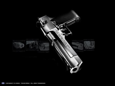 THE BAD ASS HANDGUN - desert eagle, 50-calaiber, handguns