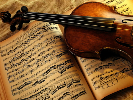 I love music - violin, photography, note, music, book
