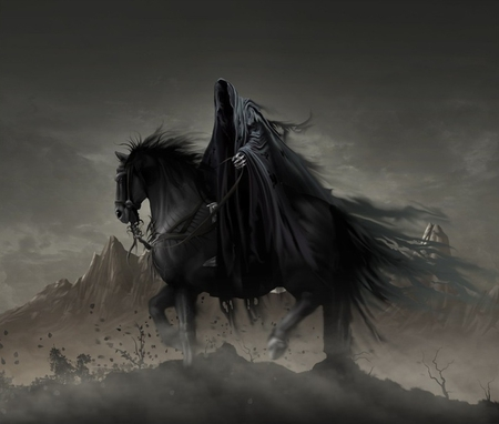 Wraith - dark, artwork, abstract, rider, wraith, fantasy