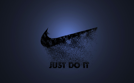 just do it! - just, nike, logo, it, black, blue, do