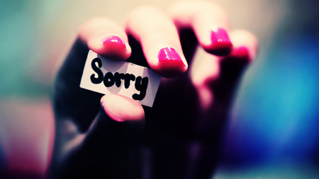 Sorry - sorry, paper, photography, hand