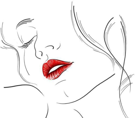 While your lips are still red - colour, sketch, color, wall, wallpaper, woman, image, white, pic, drawing, red, picture, lips