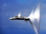 F-18 in Transonic Flight