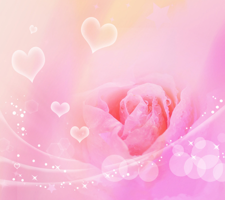 Pink rose flowers nature background wallpapers on - Pink roses and hearts wallpaper ...